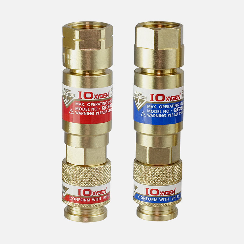 QF288 Series Quick Action Coupling with Built in Flashback Arrestors